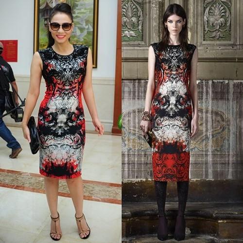 Hình ảnh so sánh thú vị kiều nữ Việt và siêu mẫu mặc đồ hiệu